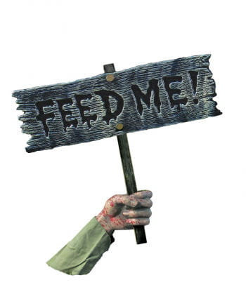 Feed Me Zombie Warning Sign