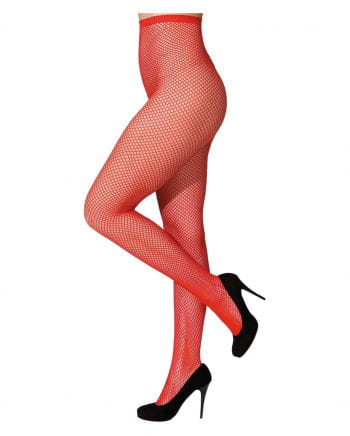Fine fishnet tights red