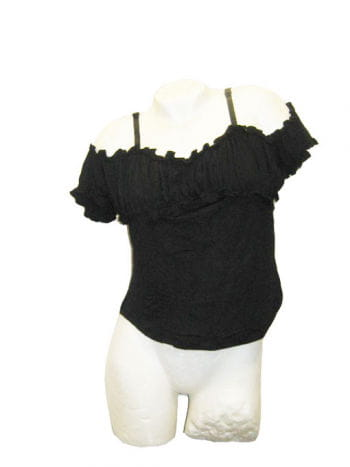 Black Off The Shoulder Top Xtra Large