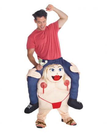 Dicke Stripperin Huckepack Kostüm