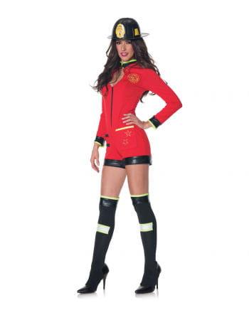 Sexy Feuerwehrfrau Kostüm mit Helm