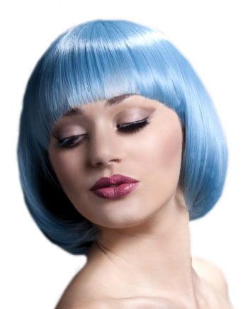 Damenperücke Mia pastellblau