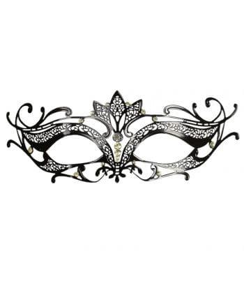 Augenmaske aus Metall schwarz