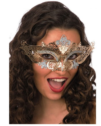 Filigree Metal Eye Mask Gold