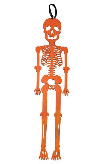 Hänge-Skelett aus orangenem Filz