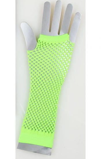 Fingerlose Disco Netzhandschuhe Neongrün
