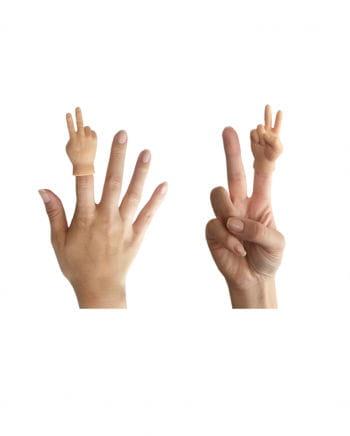 Victory Hand als Fingerpuppe