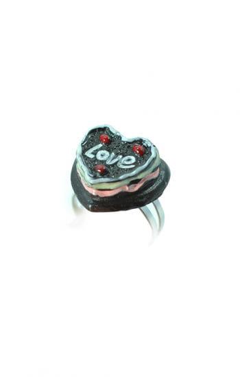 Kinder Finger-Ring Schoko-Herztorte