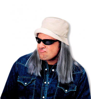 Fishing Hat with graying hair