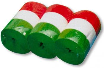 Italian Flag Crepe Paper Streamers  10 cm x 10 m