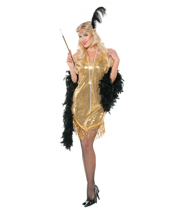 Flapper Kostümkleid gold