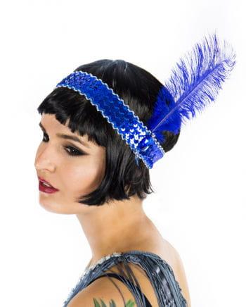 Blaues Flapper Stirnband