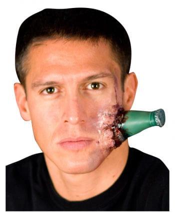 Flasche im Kopf Wunde