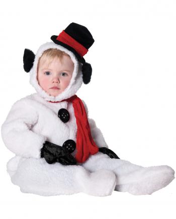 Flauschiger Schneemann Kinderkostüm XL
