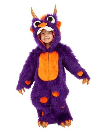 Flauschiges lila Monster Kinder Kostüm