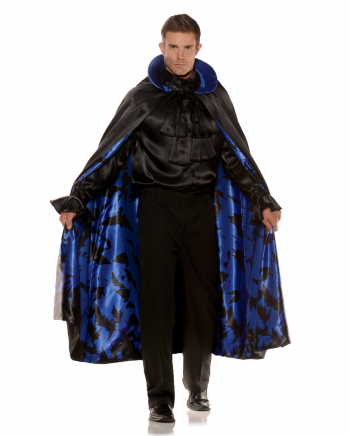 Bat Costume Cape Black-blue