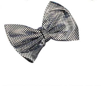 Fliege Deluxe schwarz mit silber