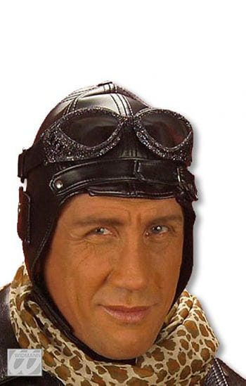 Aviator Hat Retro Style Made of faux leather