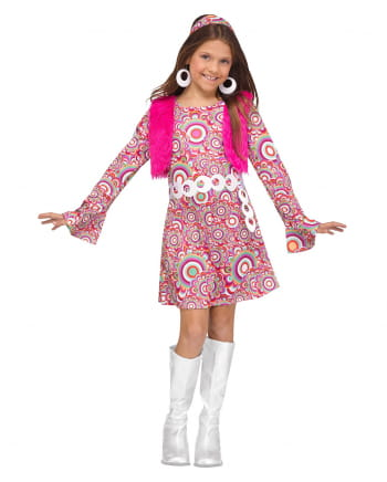 Flower Power Hippie Girl Costume
