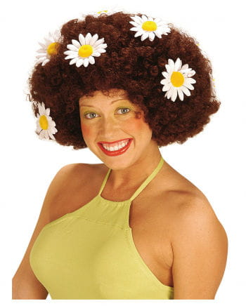 Flowerpower Afro Wig Brown