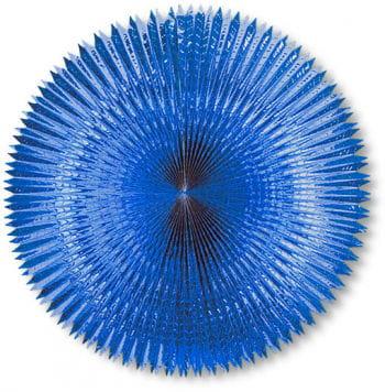 Folding fan metal foil Blue 90 cm