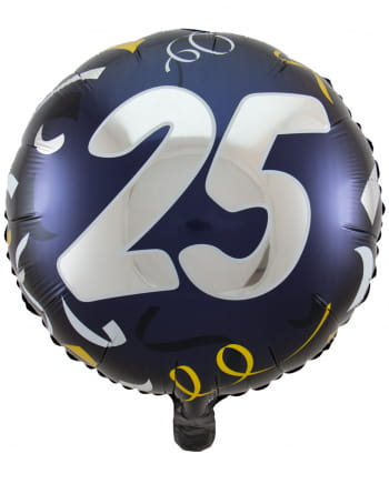 Foil Balloon 25 Black-gold 45cm