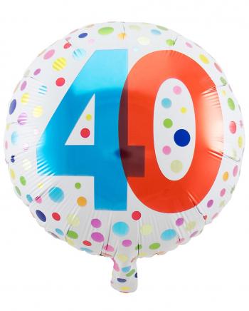 Foil Balloon Confetti 40th Birthday