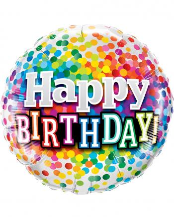 Konfetti Happy Birthday Folienballon