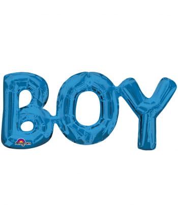 Blauer Schriftzug Boy Folienballon