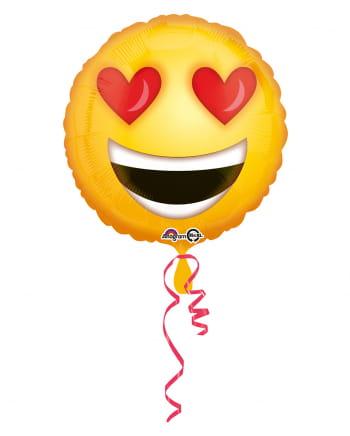 Emoji verliebter Smiley Folienballon 43cm