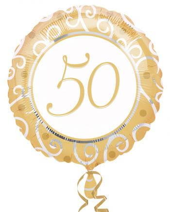 Gold Foil Balloon 50th Birthday