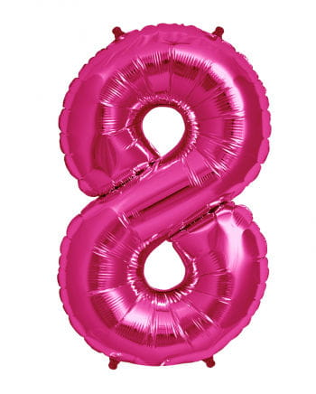 Foil balloon number 8 Magenta