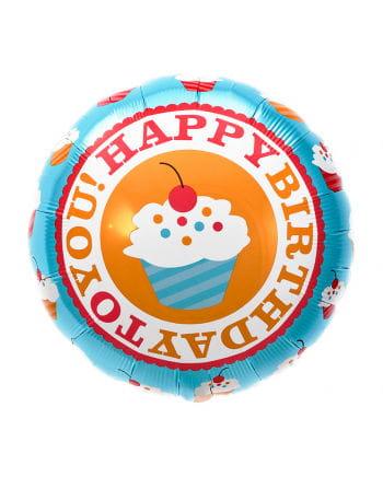 Happy Birthday Folienballon Cupcake