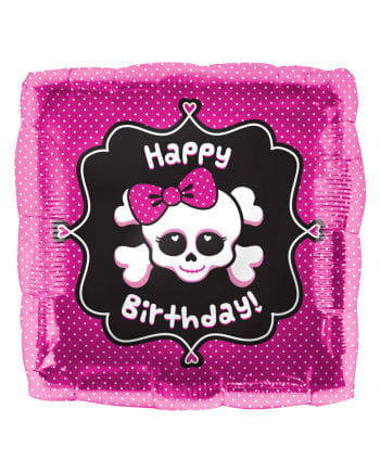Happy Birthday Folienballon Skull