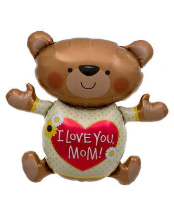 Foil balloon I Love You Mum Bear
