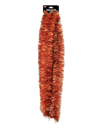 Fringe Garland Metallic Orange 275 Cm