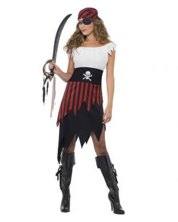 Piratin Kostüm Schwarz-Rot