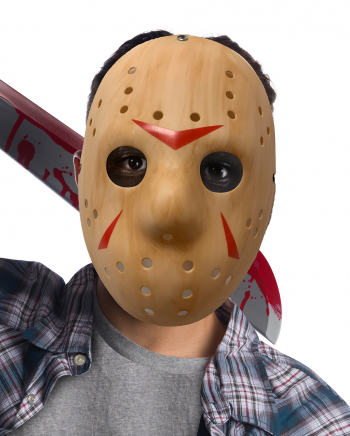 Friday the 13th Jason Voorhees Maske Holzoptik