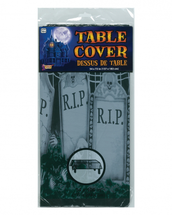 Cemetery Deco Tablecloth 137 X 182 Cm