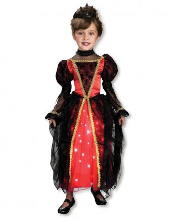 Funkelnde Gothic Prinzessin Kostüm XS