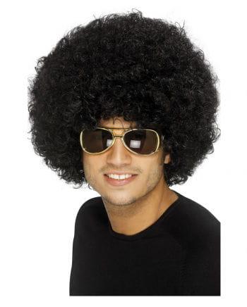 Schwarze Funky Afro Perücke