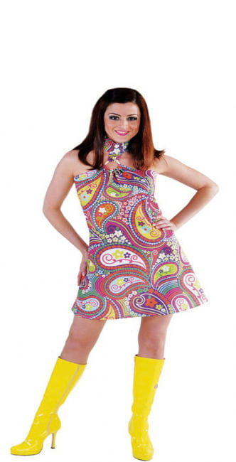 Funky Colors Hippie Kleid XL