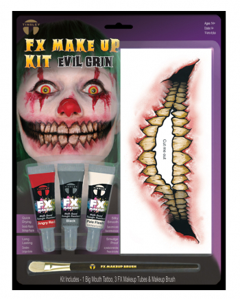FX Make Up Kit Evil Grin mit Klebetattoo