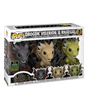 Drogon, Viserion & Rhaegal Game of Thrones Funko Pop! 3er Set
