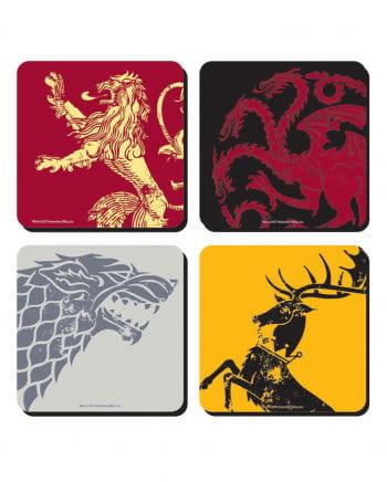 4 Stück Game of Thrones Untersetzer