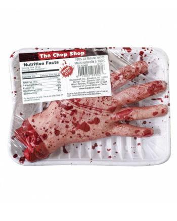Abgetrennte Gammelfleisch Hand