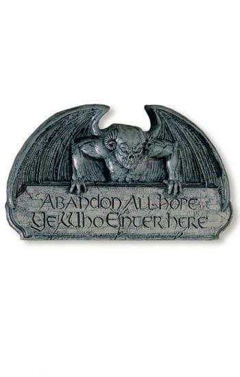 Gargoyle Türschild als Halloween-Deko