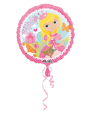 Foil Balloon Birthday Princess 43cm