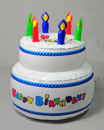 Aufblasbarer Geburtstagskuchen