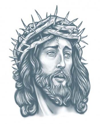 Jesus Tattoo zum Aufkleben